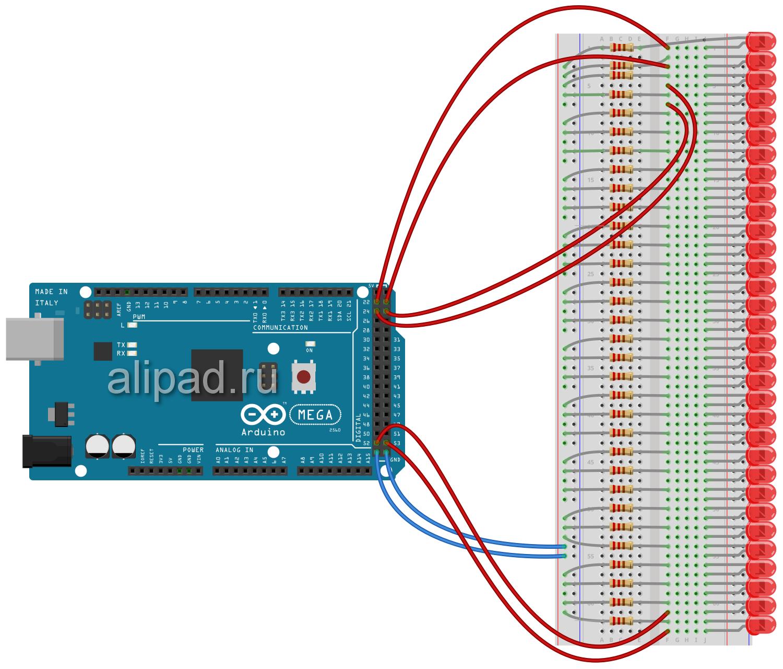 Макет схемы с резисторами